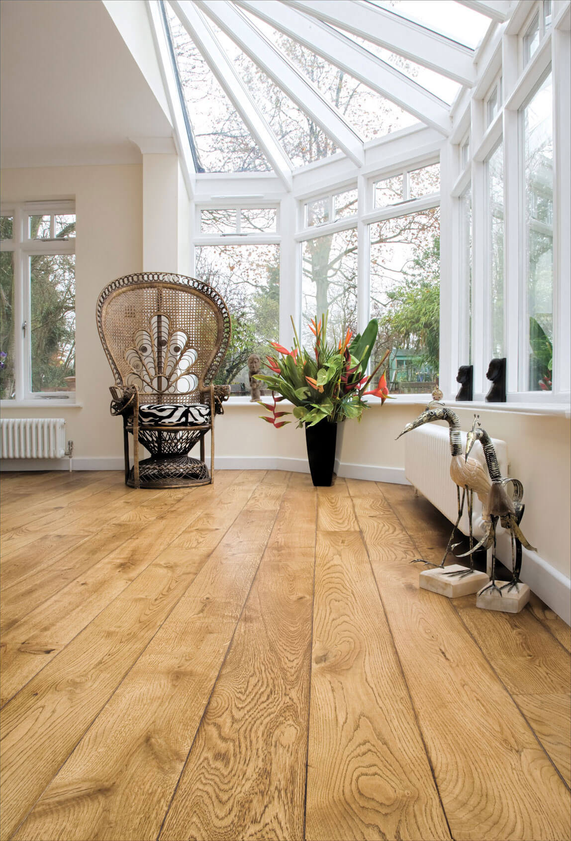 Conservatory Flooring Ideas - Solid Wood or Engineered Wooden Flooring