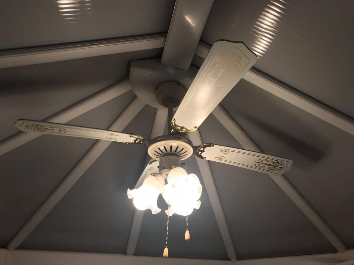 Conservatory Lighting Ideas - Light-Fan Combination