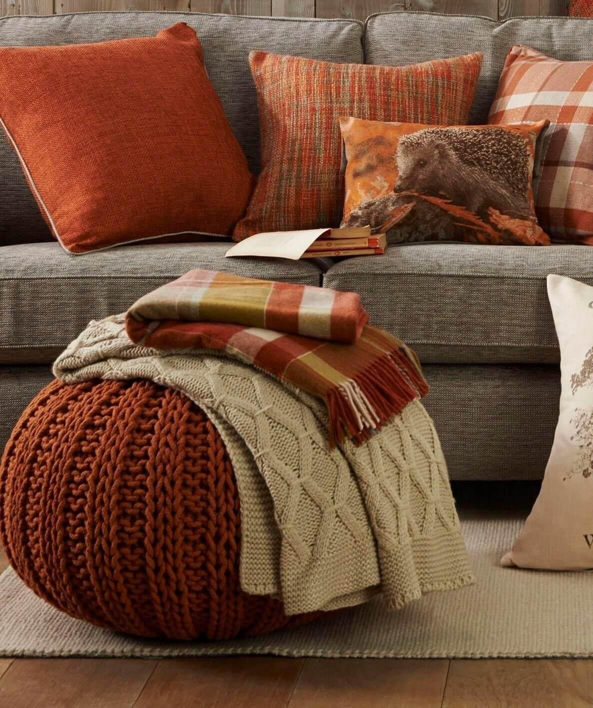 Conservatory Sofa Ideas - Throws & Cushions