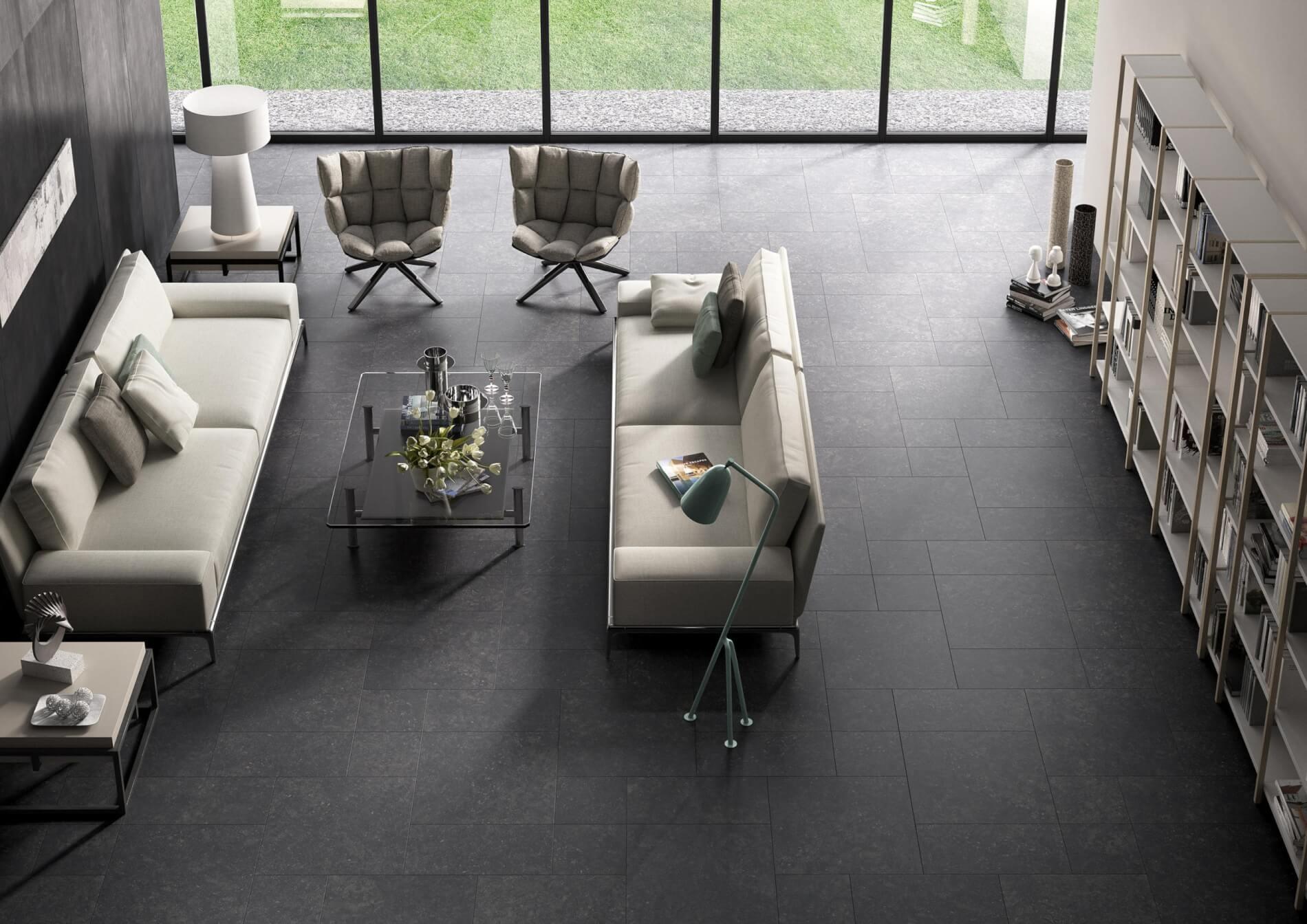 Conservatory Design Trends in 2020 - Dark Stone Flooring