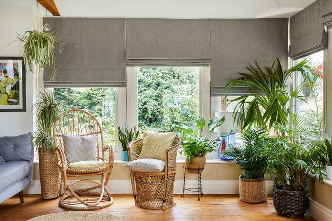 Conservatory Blinds - Roman Blinds