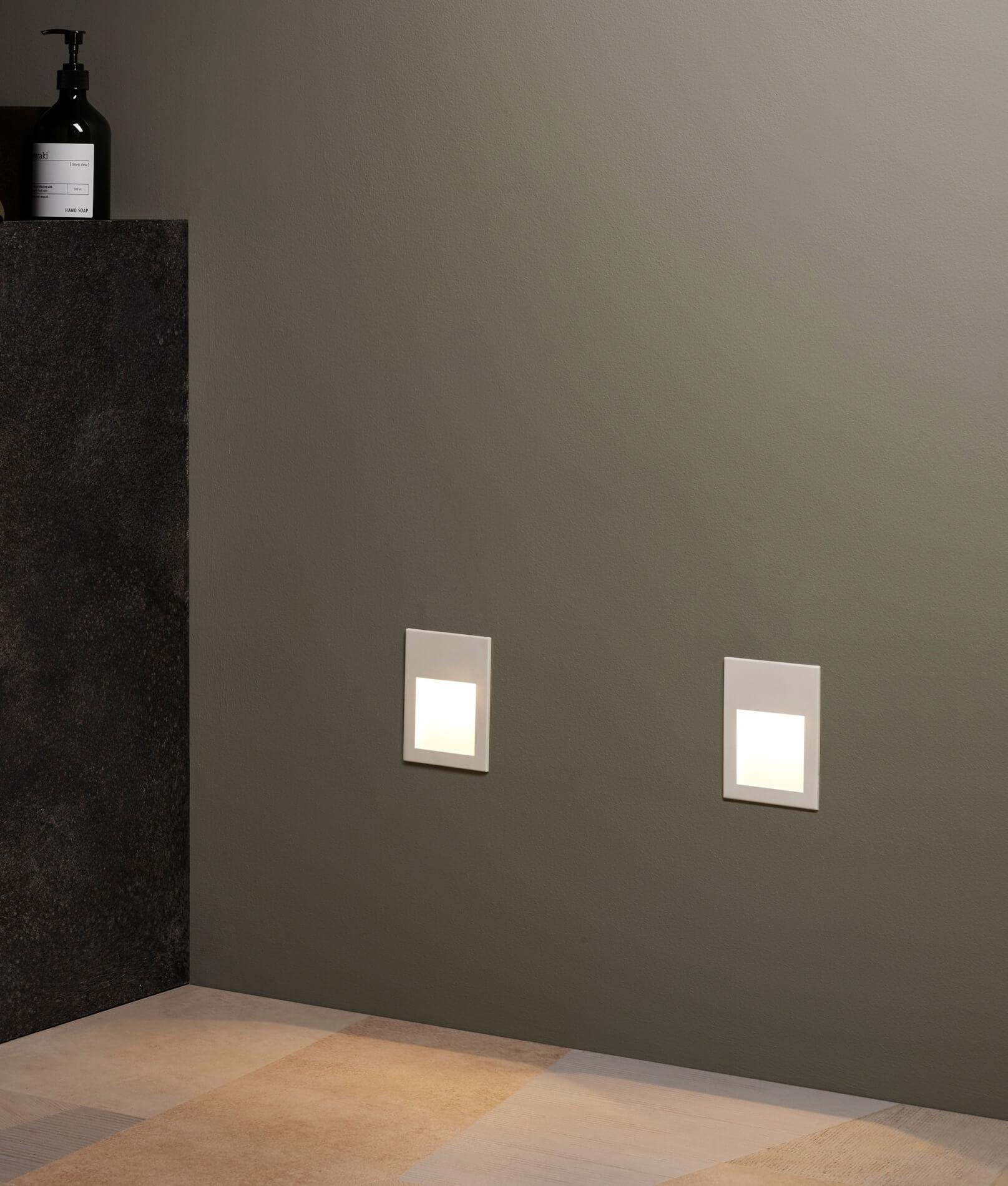 Conservatory Lighting Ideas - Recessed Wall Lighting