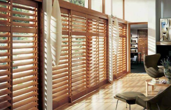 Conservatory Blinds - Faux Wood Blinds