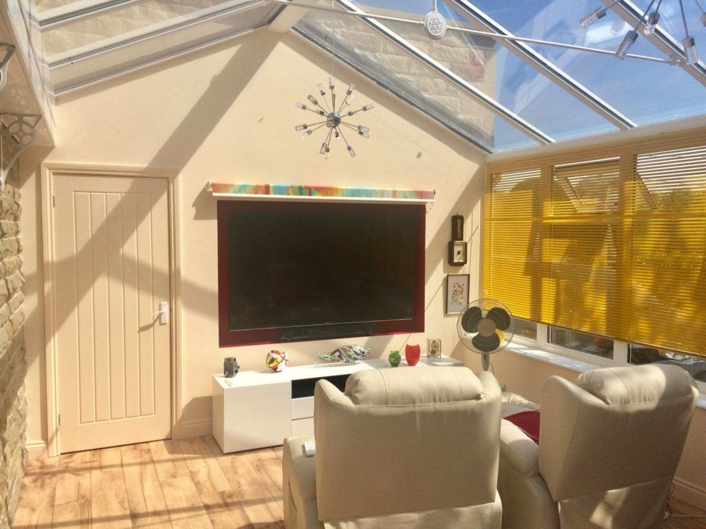 Small TV, Cinema & Gaming Room - Small Conservatory Ideas for 2020