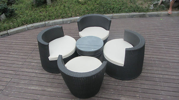 Stacked Tables & Chairs - Small Conservatory Ideas For 2020