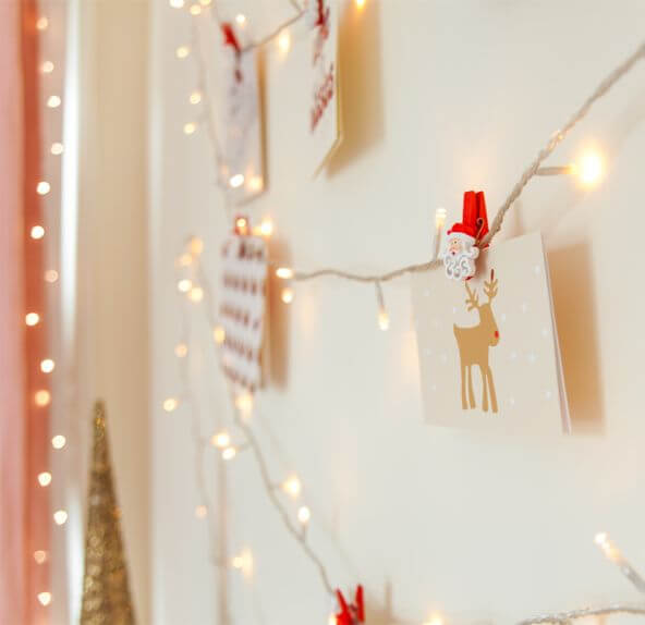 Use Christmas Cards As Decorations