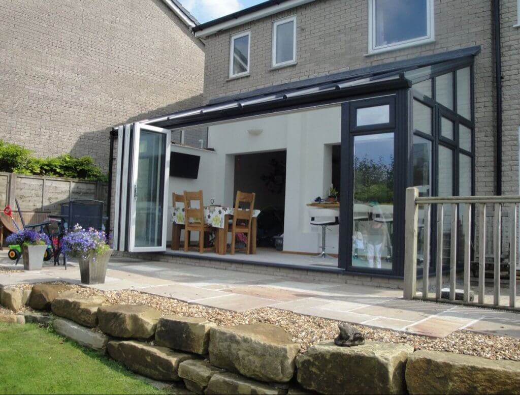 Lean-To Conservatory With Bi-Folds Or Swing & Slides
